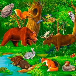 Стихи про диких животных